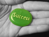 graphic of success in hand